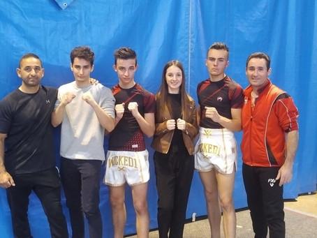 2 nouveaux titres de champion de France pour le boxing club Tournon Tain en Kick Boxing.