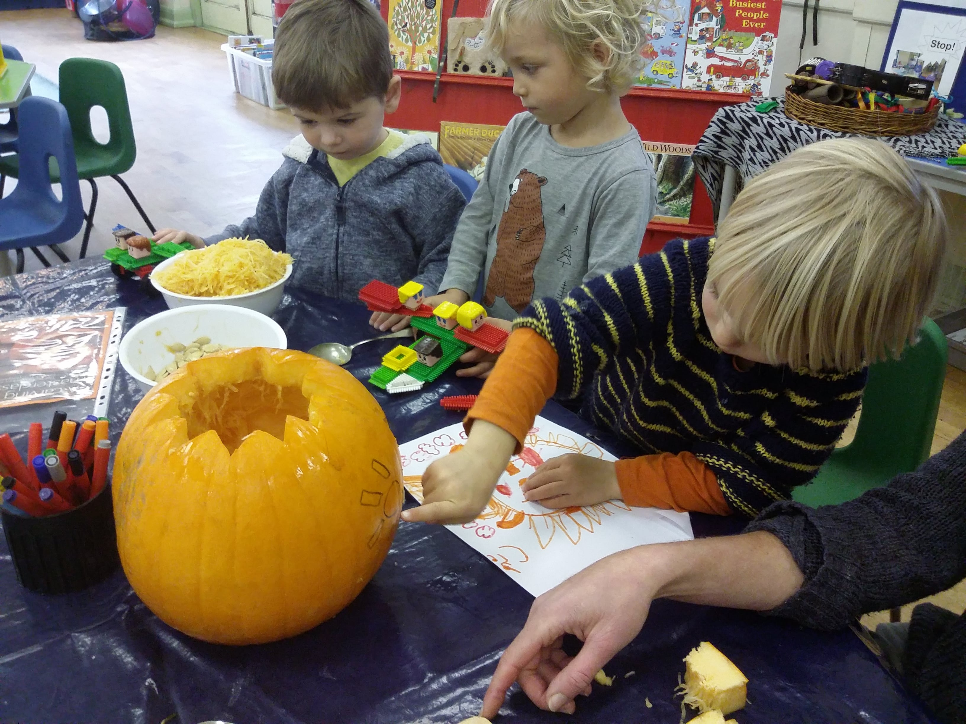 Designing pumpkin faces
