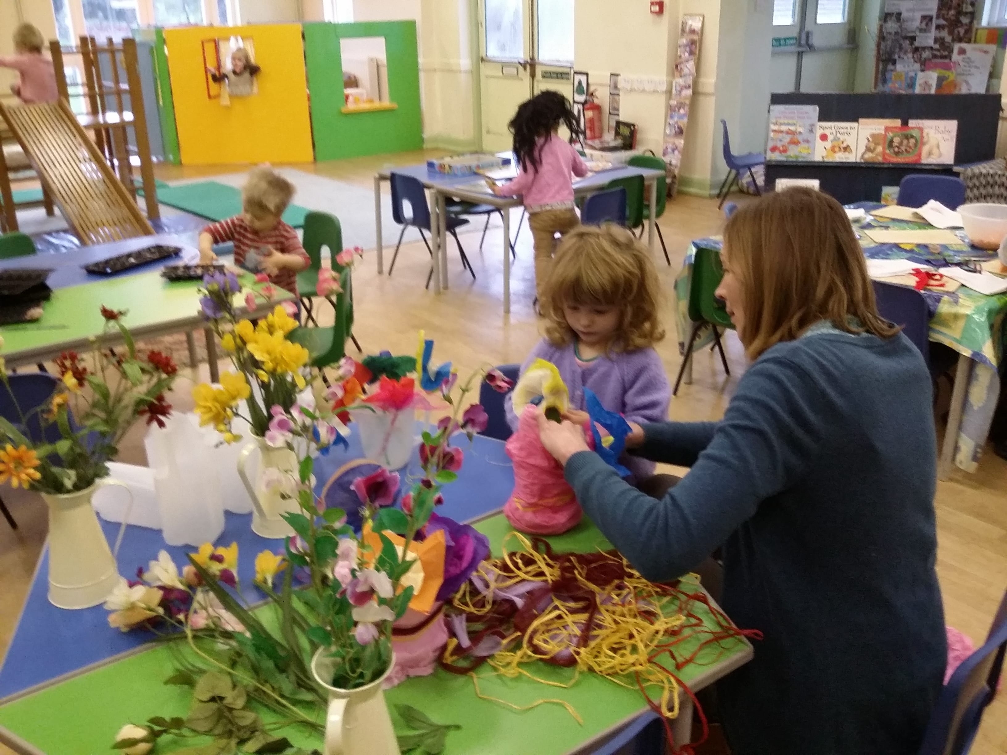 Creating flower decorations