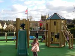 Using the new school playground