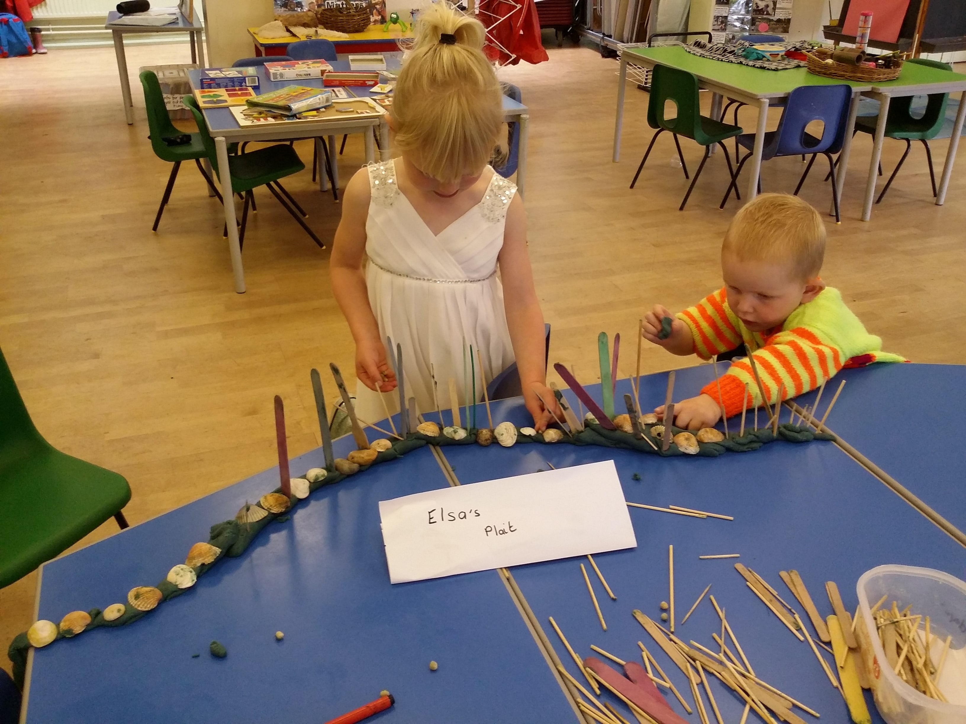 Creating with shells & sticks