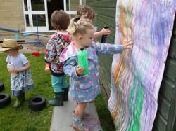 Exploring feel of runny paint