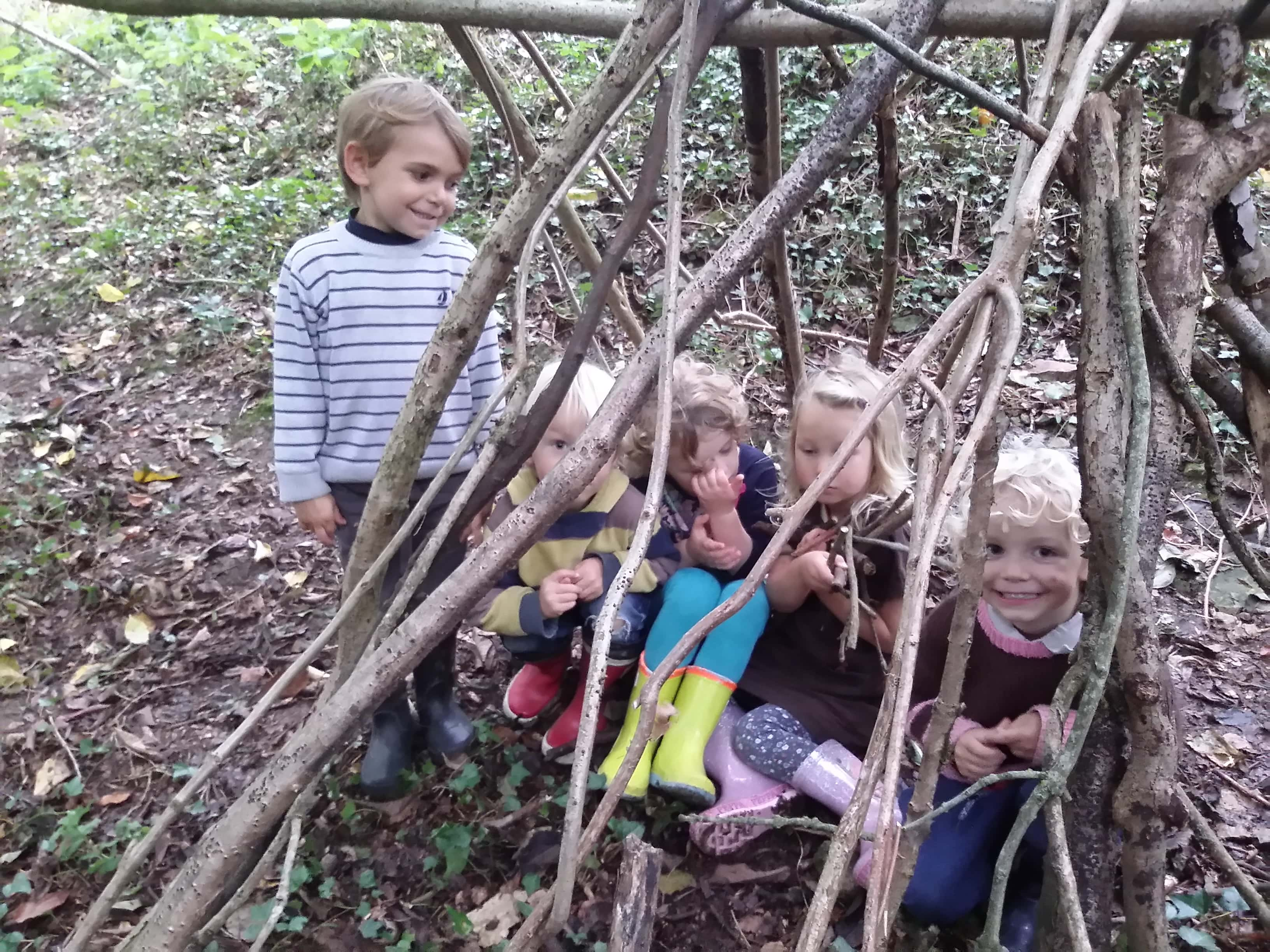 Making a stick house