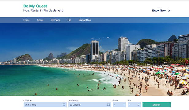 Apartments & Hostels website templates – Rio Host Rental