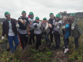 17 сентября Молодежь Люберецкого района принялаучастие в акции «Наш лес. Посади своё дерево»