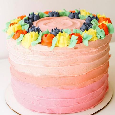 Ombre Textrure Cake