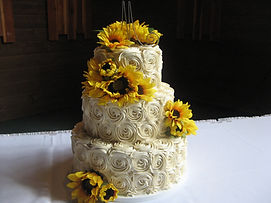 Rosettes and sunflowers