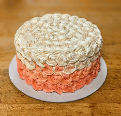 Ombre Rosette Smash Cake