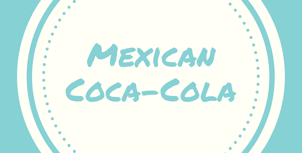 Mexican Coca-Cola   12 oz Glass Bottle