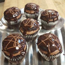 Triple Deadly Chocolate Cupcake