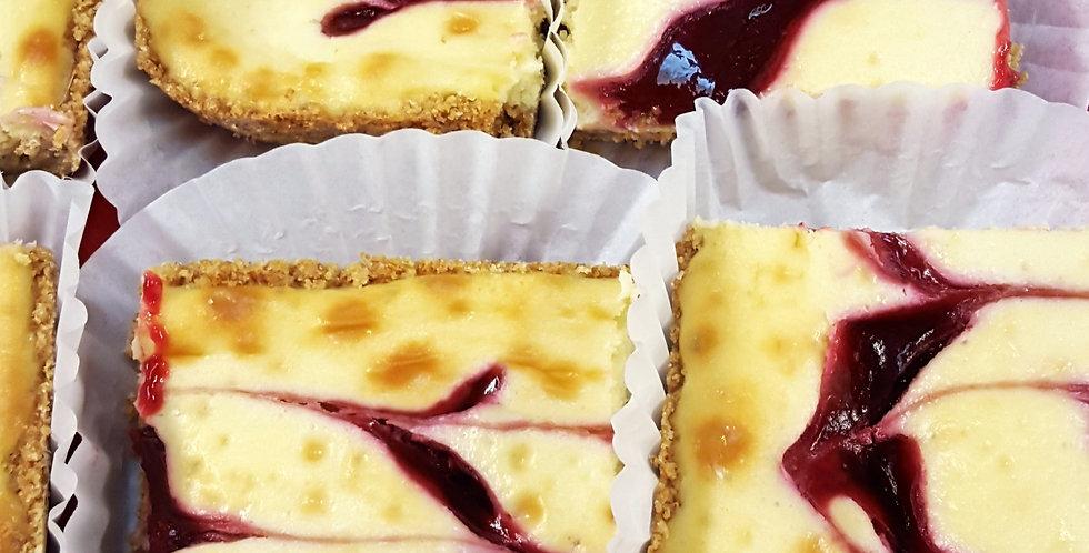Raspberry Swirl Cheesecake Bar