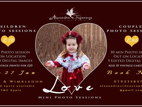 LOVE Mini Photo Sessions