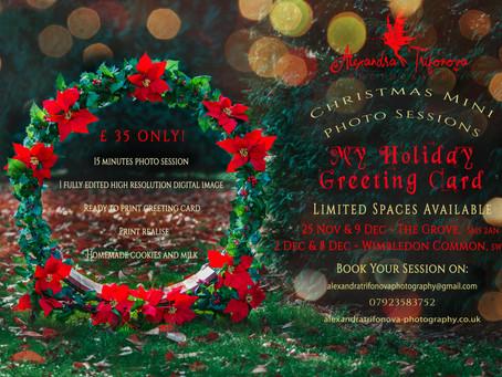 Christmas Mini Photo Session - Holiday Greeting Card