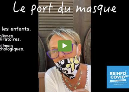 Le port du masque en extérieur et pour les enfants
