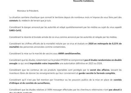 Lettre du Dr Chazal à Louis Mapou