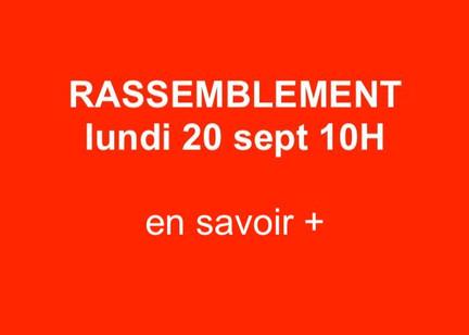 Rassemblement du 20 septembre : Attestation de déplacement dérogatoire