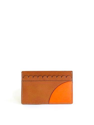 Sorrento Card Holder Tan Orange