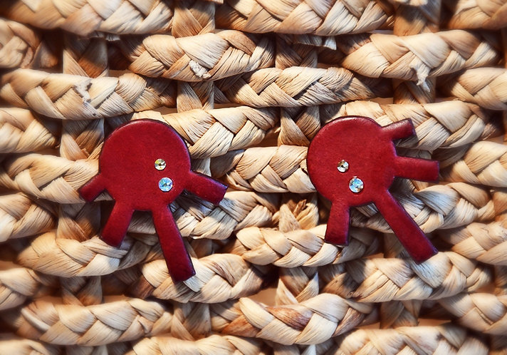 """Oh Sole Mio"" Earrings Rosso"