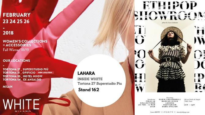 Let's meet@ WHITE Show Milan and @ Tranoï Week Paris!
