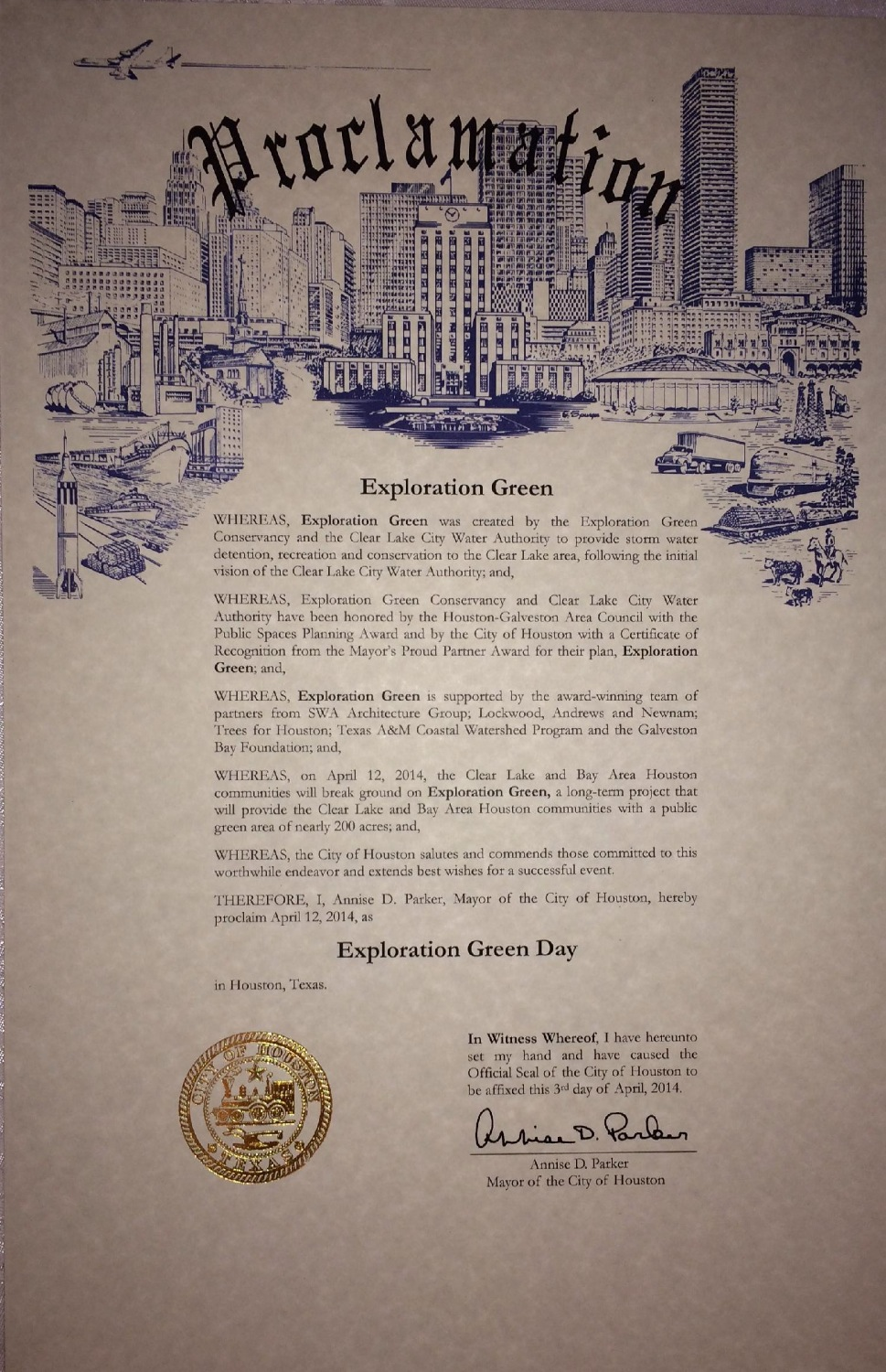 Proclamation from the City