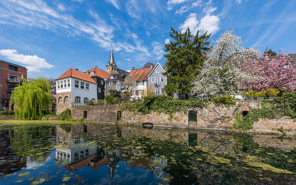The historical centre of Essen Kettwig a