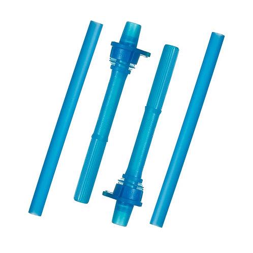 munchkin クリック・ストローボトル用替エストロー/2個セット/ブルー