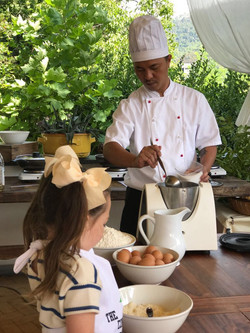 Cooking lesson for children