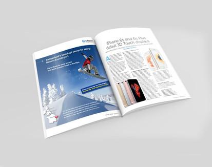 Encart publicitaire Ski