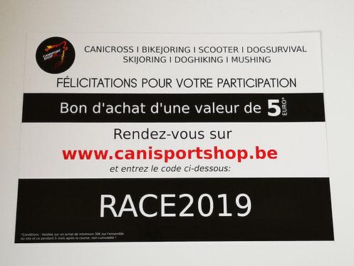 Bon d'achat participation course