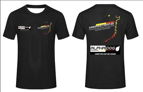 T-shirt running CANISPORTSHOP.BE et ALPHADOGSPORT