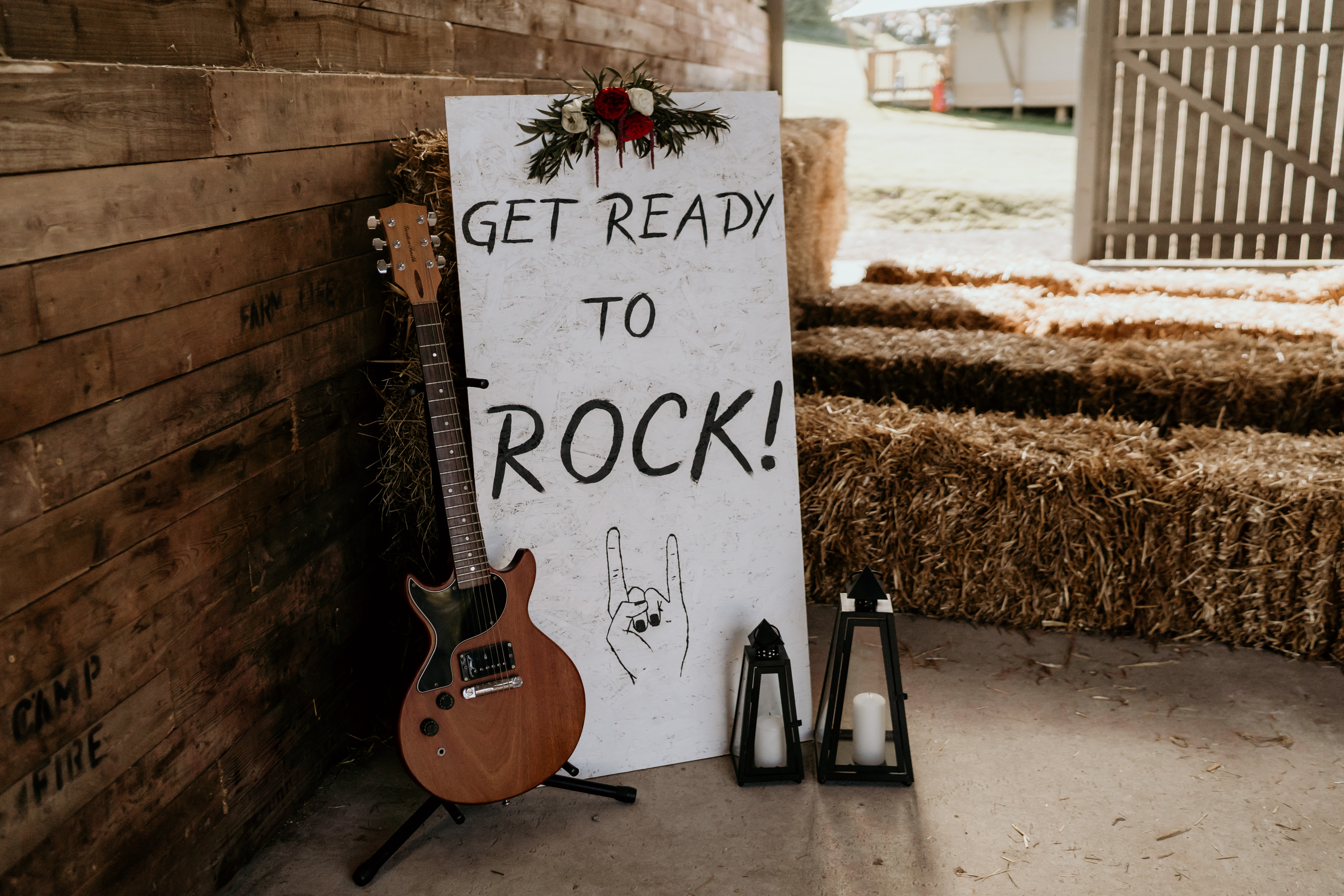 Get Ready to Rock Wedding Sign
