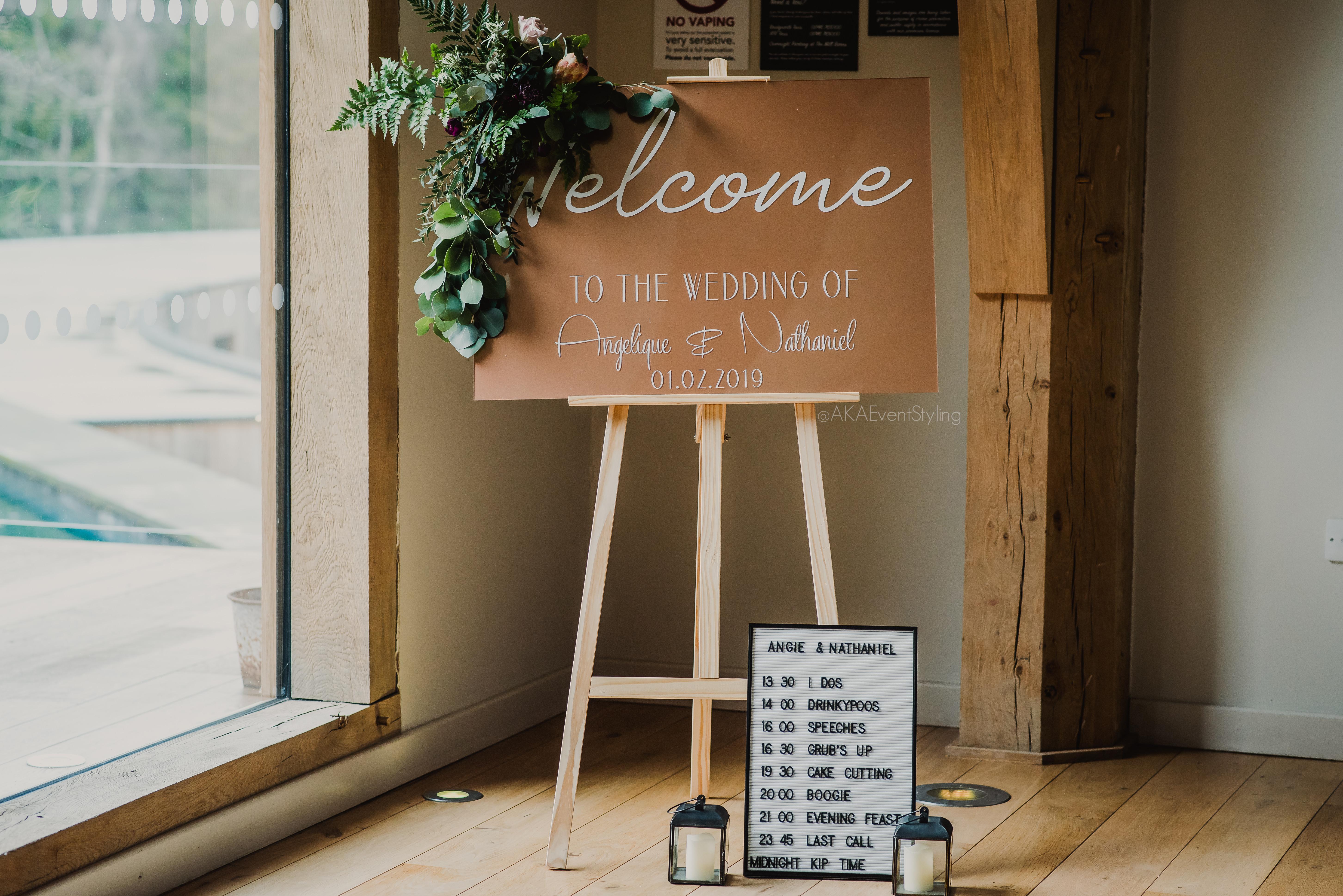 Acrylic Signage - AKA Event Styling