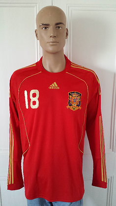 2008-2009 Spain Player Issue Home Shirt