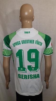 2015/16 SpVgg Greuther Fürth Home Shirt BERISHA 19 (Match Worn?)