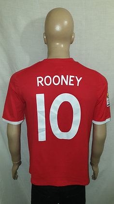 2010-2011 England Away Shirt ROONEY 10: Size 42