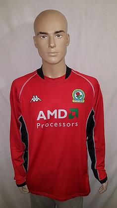 2002/03 Blackburn Rovers Long Sleeved Away Shirt