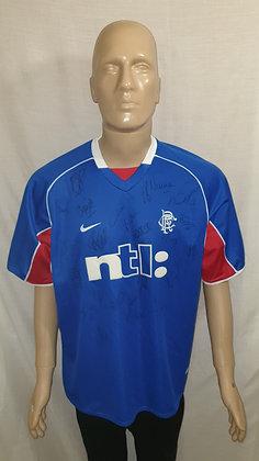 2001/02 Rangers Home Shirt (Signed)