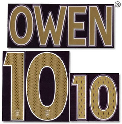 2006-2007 England Away Shirt OWEN 10 N&N