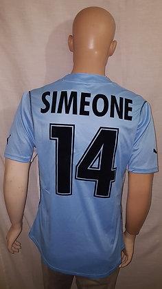 2001/02 S.S. Lazio Home Shirt SIMEONE 14: BNWT
