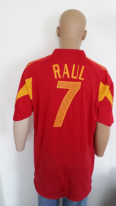 2004-2005 Spain Home Shirt RAUL 7: Size XL
