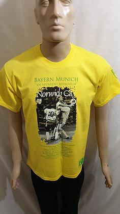 """Norwich City - Bayern Munich """"An Apparent Mismatch"""" T-Shirt (Limited Edition)"""