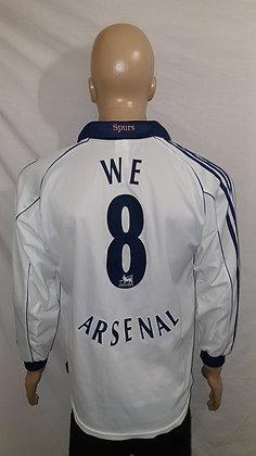 1999/00-2000/01 Tottenham Hotspur Long Sleeved Home Shirt WE 8 ARSENAL