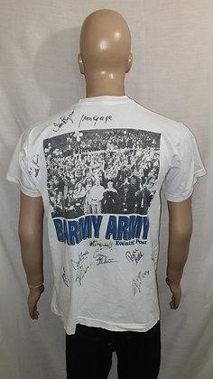 1995/96 Preston North End Division 3 Champions T-Shirt (Signed)