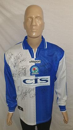 1998/99-1999/00 Blackburn Rovers Long Sleeved Home Shirt (Signed)