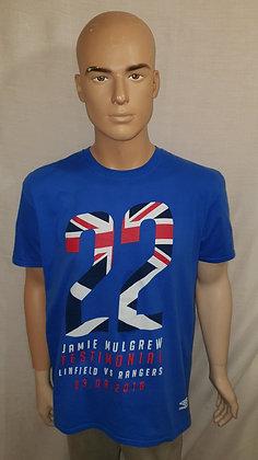Linfield v Rangers Jamie Mulgrew Testimonial Shirt