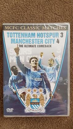 Tottenham Hotspur 3 Manchester City 4 DVD