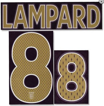 2006-2007 England Away Shirt LAMPARD 8 N&N