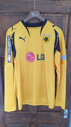 2007/08 AEK Long Sleeved Home Shirt (Player Issue)