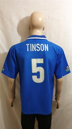 1999/00 Macclesfield Town Home Shirt TINSON 5 (Match Worn?)