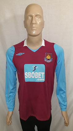 2008/09 West Ham United Long Sleeved Home Shirt
